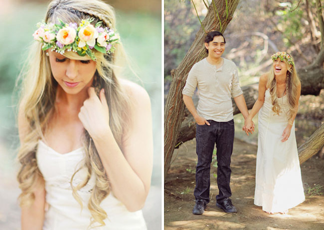flower crown engagement