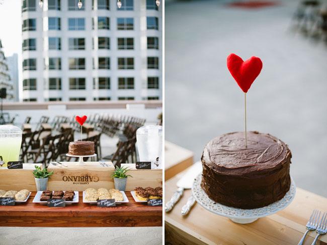 heart felt cake topper