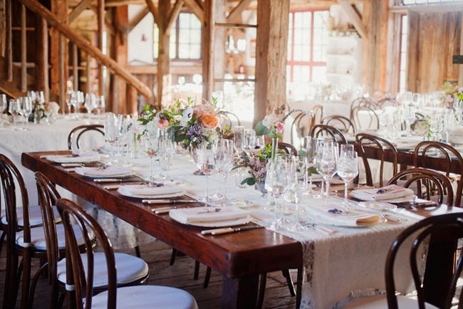 classic reception tables