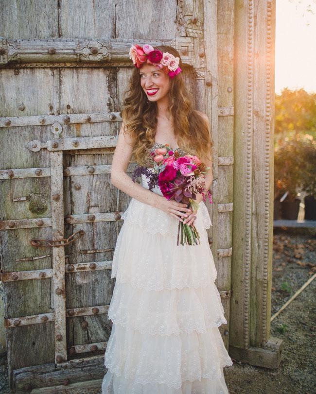 flower crown BHLDN bride
