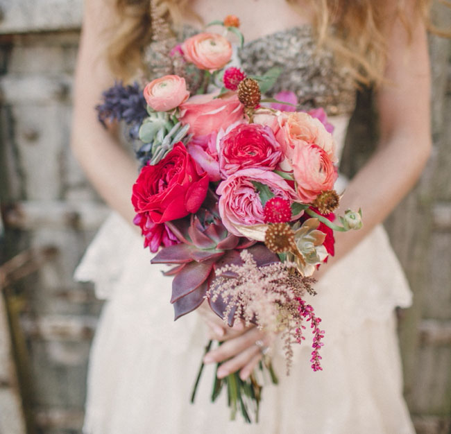 romantic styled bouquet
