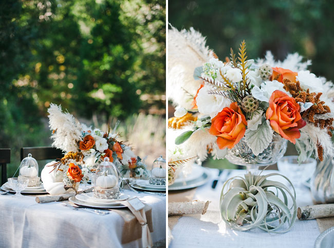 fall feathery centerpiece