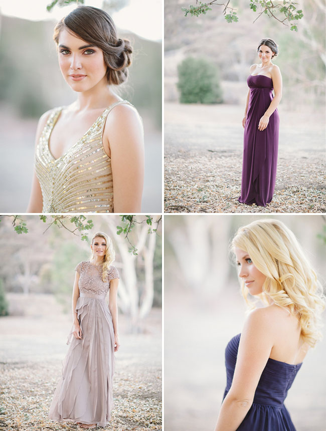20s inspired bridesmaids