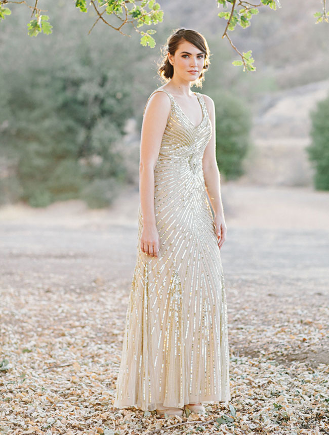 20s gold sequin dress