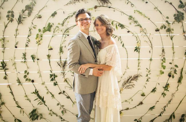 20's modern wedding