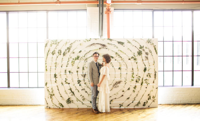 botanical wall backdrop
