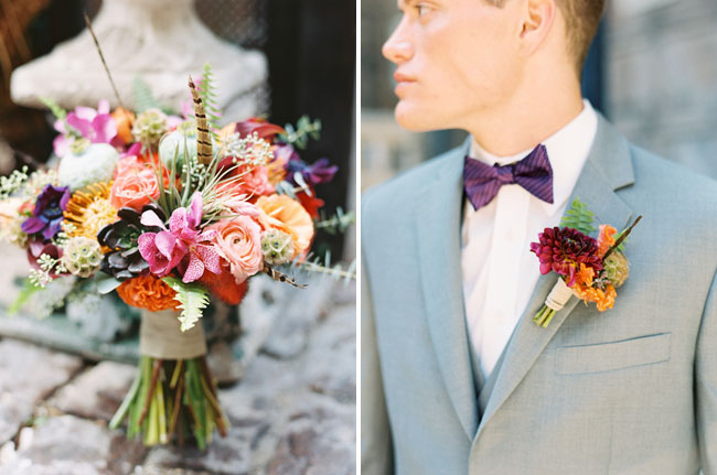 chicago boho boutonniere