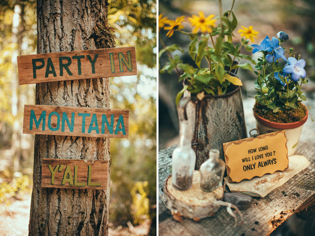 wooden tree signs