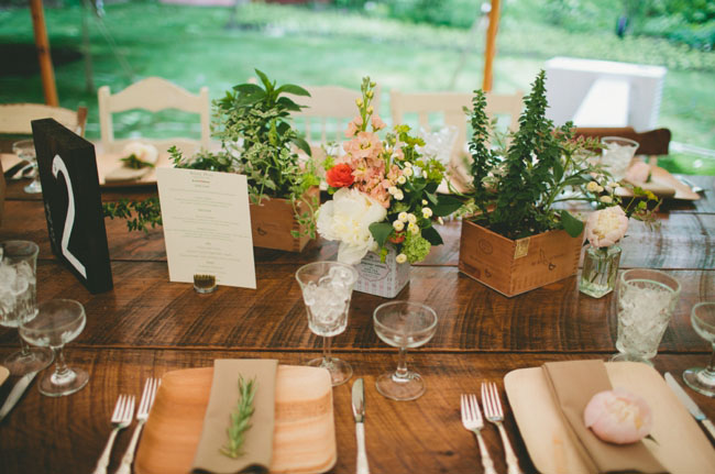 boxed centerpieces