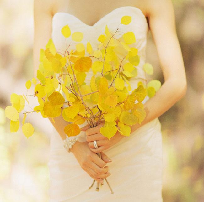 yellow leaf bouquet