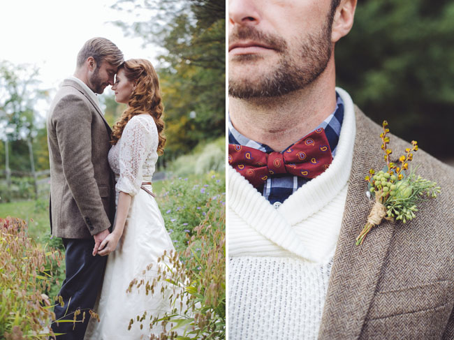 fall farm boutonniere