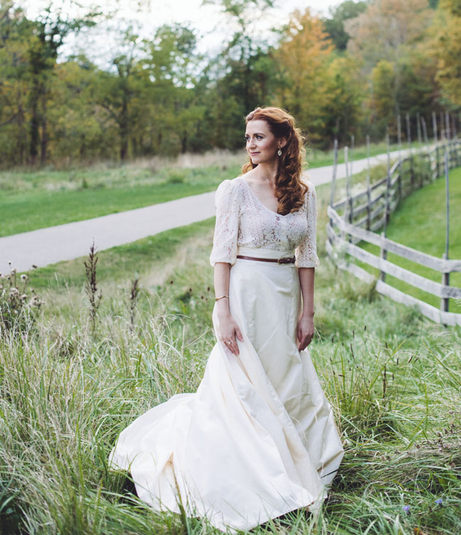 fall farm bride