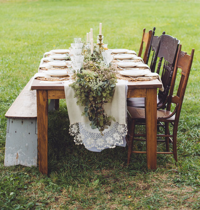 fall farm tablescape