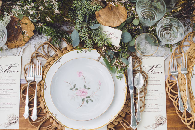 fall farm place setting