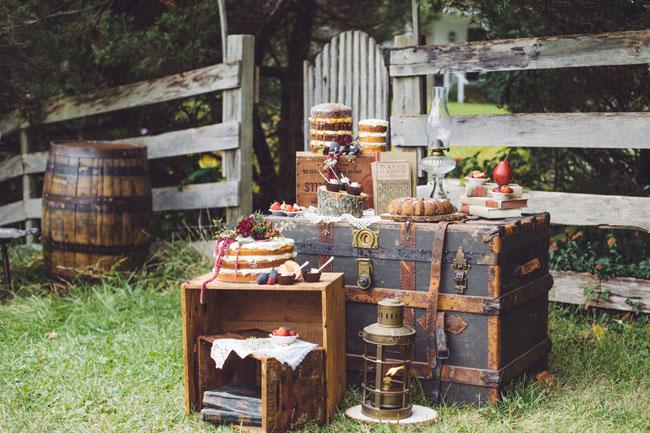fall farm dessert and trunks