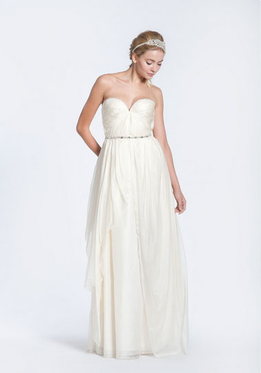 bbe31443c55 Sarah Seven  Practically Perfect  Pleated Wedding Dress - Green ...
