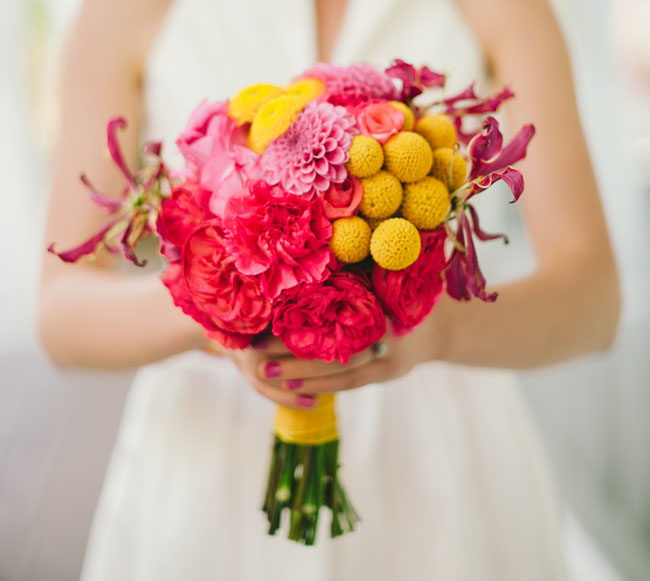 bright colorful bouquet