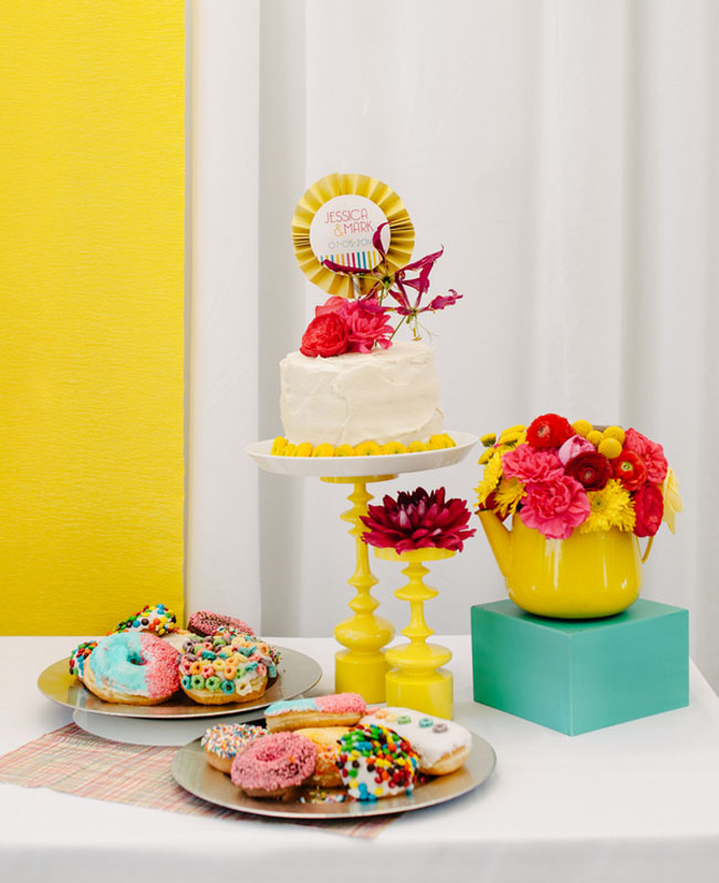colorful dessert bar