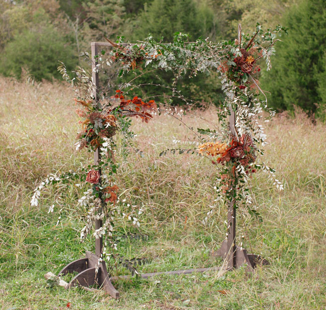 cedarwood rustic arbor