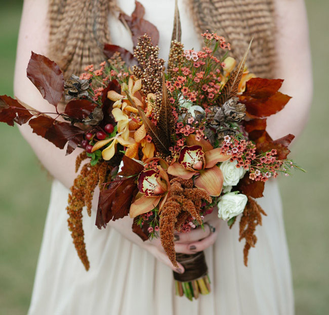 cedarwood rustic fall bouquet