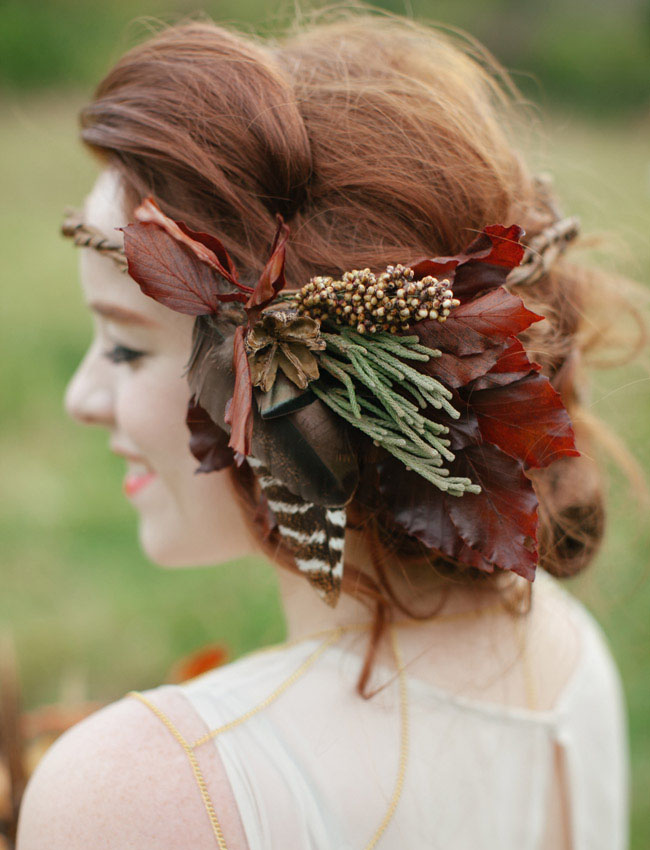 cedarwood rustic fall hair piece