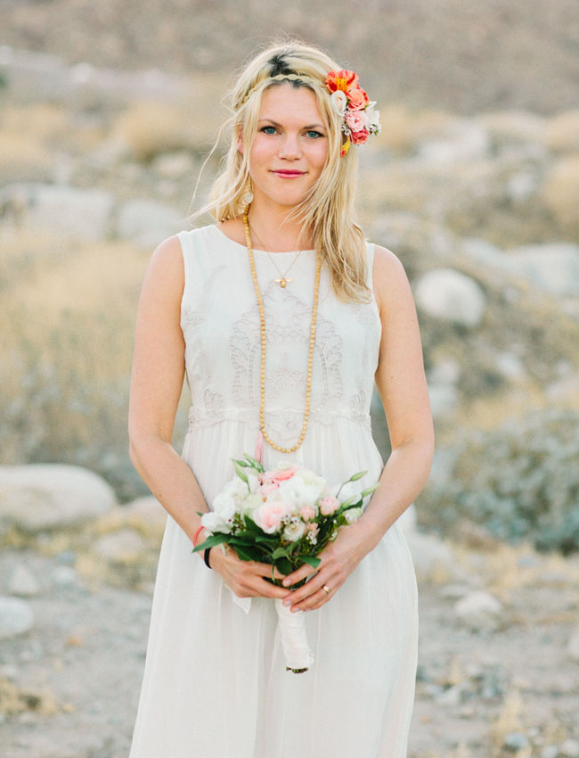 palm springs elopement bride