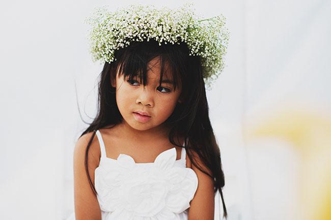 outdoor flower crown girl