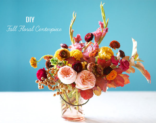 fall floral centerpiece DIY