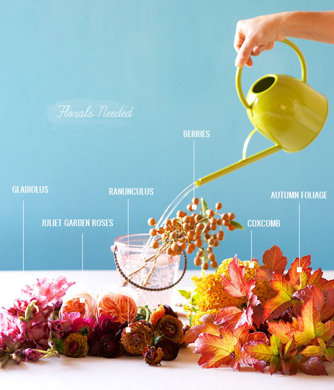 fall floral materials