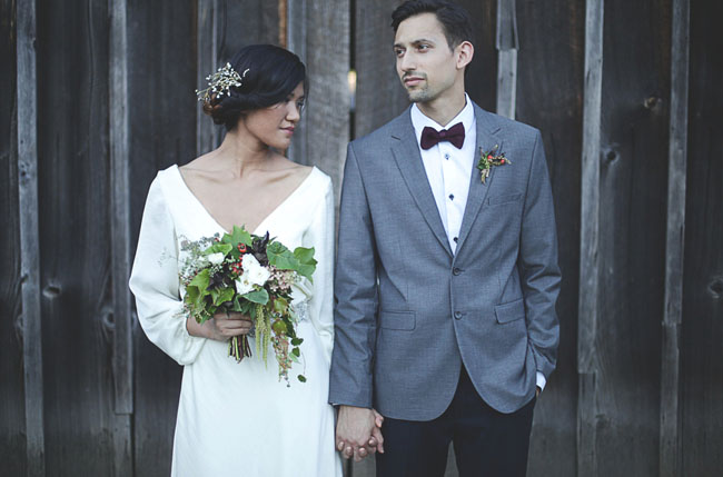 fall bride and groom inspiration