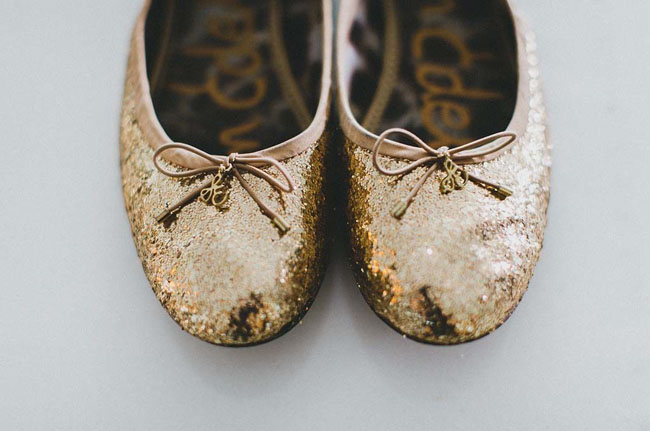 gold sparkle shoes