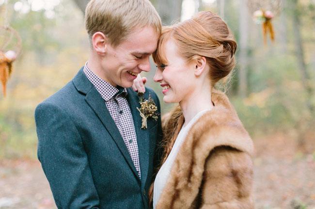 fur bridal coat