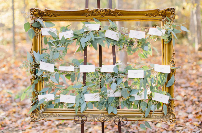 garland escort cards