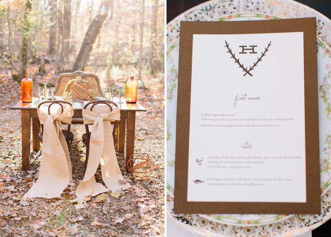 burlap wrapped chairs