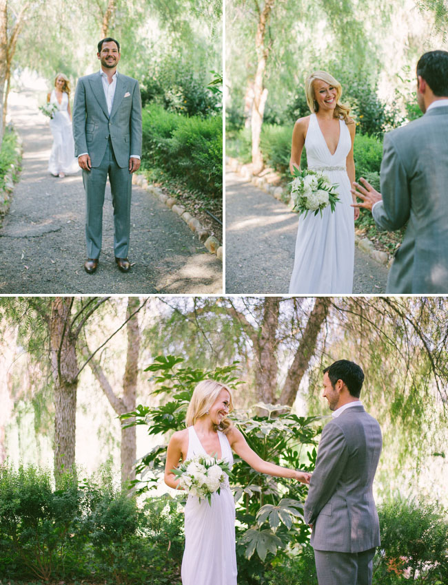 Ojai wedding first look
