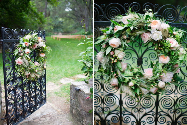 flower wreath decor