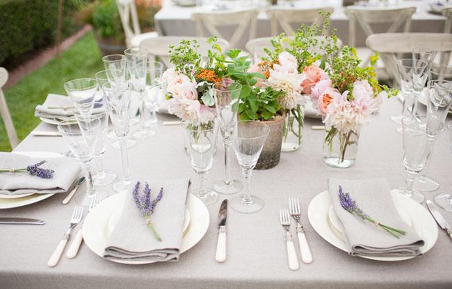 lavender place settting