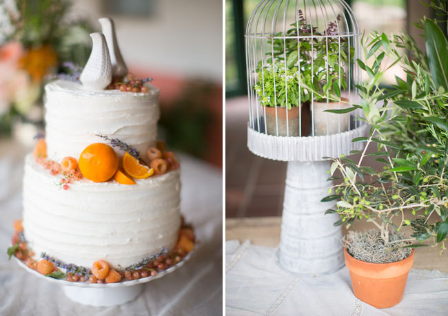 orange decor cake