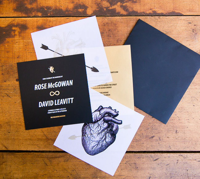 Rose McGowan invitation