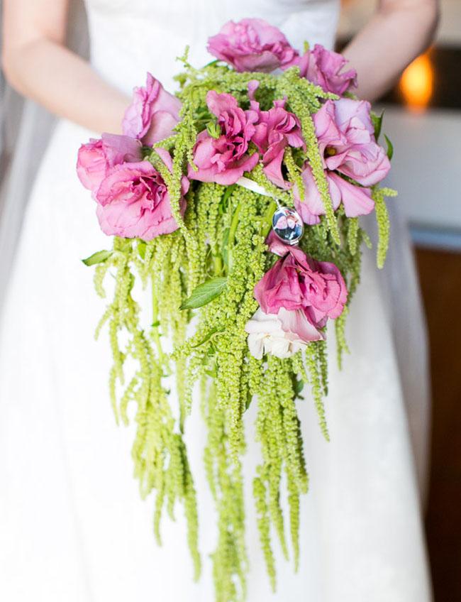 Rose McGowan bouquet