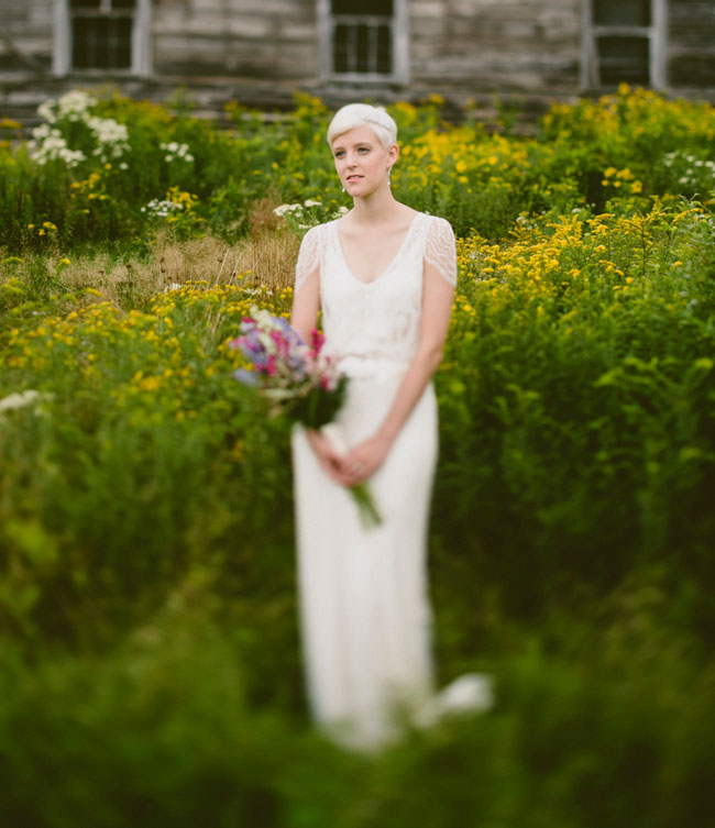 wildflower catskill farm bride