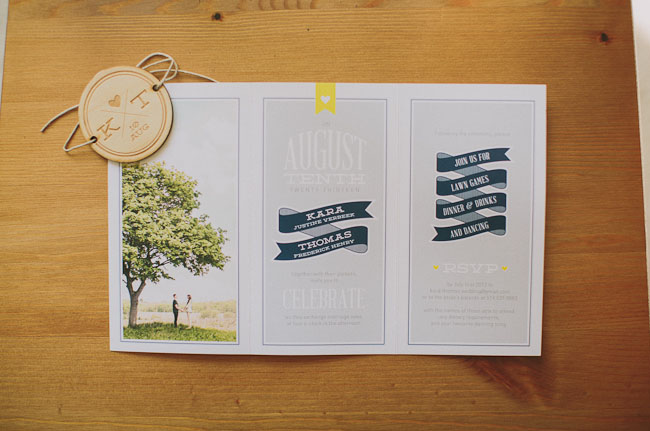 accordion wedding invite