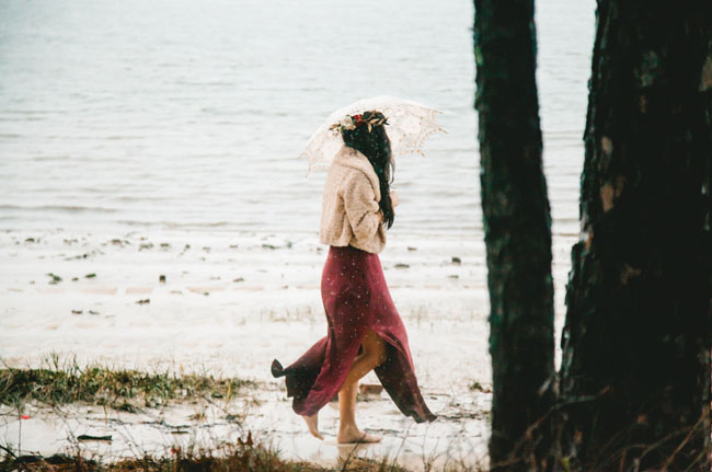 rainy beach
