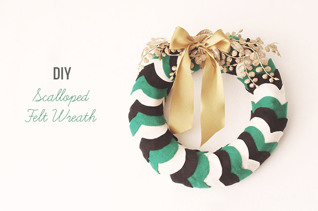 DIY Scalloped Felt Wreath