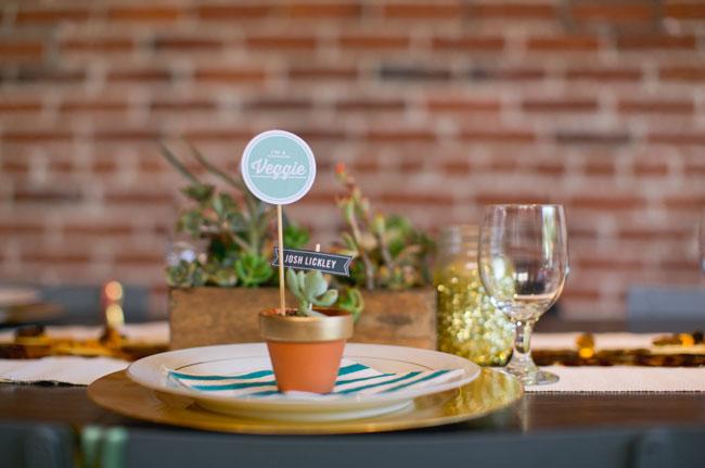 potted plant favor