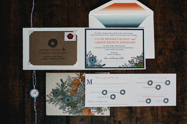 ombre invitation