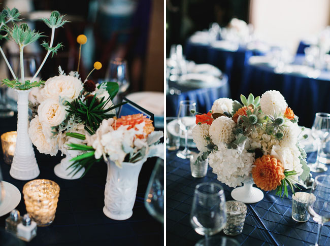 orange and green centerpieces
