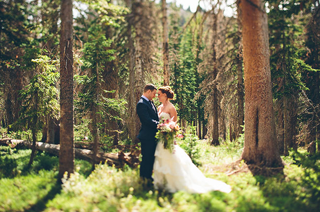 snowy wyoming wedding