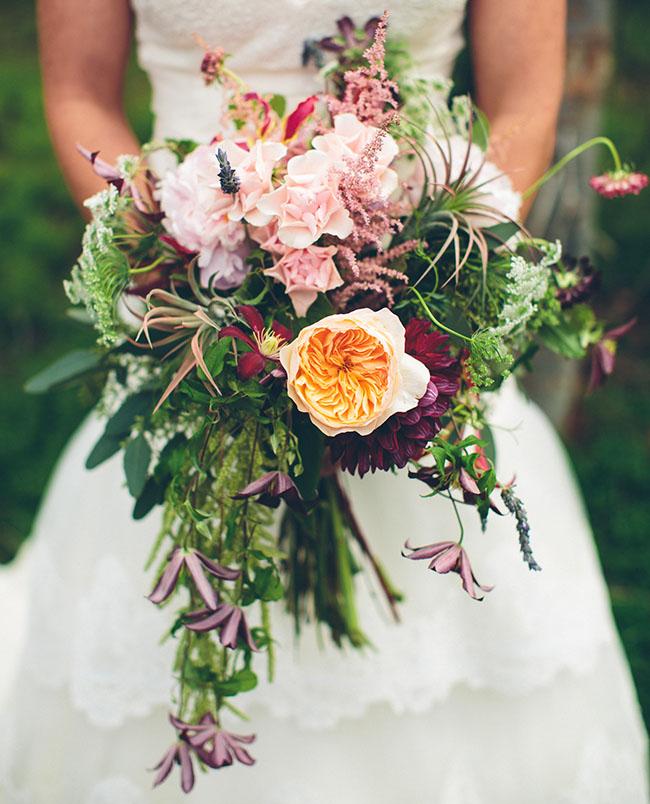 snowy wyoming bouquet