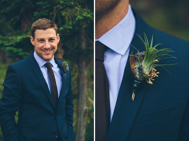 snowy wyoming boutonniere